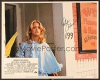 5g037 FOUL PLAY signed LC #5 '78 by Goldie Hawn, who's bewildered standing with umbrella!