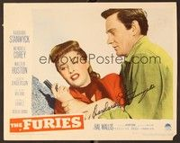 5g039 FURIES signed LC '50 by Barbara Stanwyck, who's fighting with Wendell Corey over a gun!
