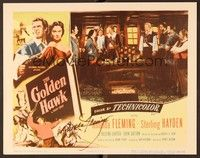 5g041 GOLDEN HAWK signed LC '52 by Rhonda Fleming, who's in ship's cabin with Sterling Hayden!