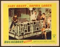 5g046 HOUSEBOAT signed LC #6 '58 by Sophia Loren, who's with Cary Grant and two kids!