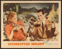 5g047 INTERRUPTED MELODY signed LC #4 '55 by Glenn Ford, who's drinking champagne w/Eleanor Parker!