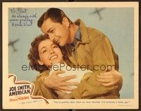 5g049 JOE SMITH AMERICAN signed LC '42 by pretty Marsha Hunt, who's hugging Robert Young!