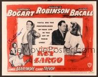 5g015 KEY LARGO signed TC REPRO '48 by Claire Trevor, who's with Humphrey Bogart, Bacall & Robinson