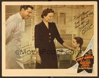 5g053 LOST ANGEL signed LC '44 by Margaret O'Brien, who's with doctor James Craig!
