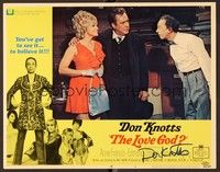 5g054 LOVE GOD signed LC #6 '69 by Don Knotts, who's amazed by Edmond O'Brien & pretty lady!