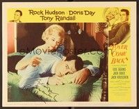 5g055 LOVER COME BACK signed LC #5 '62 by Rock Hudson, who's being consoled by Doris Day!
