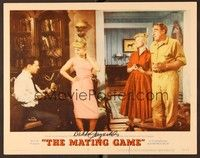 5g057 MATING GAME signed LC #7 '59 by Debbie Reynolds, who's with Randall, Merkel & Douglas!