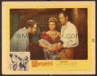 5g061 MUTINY signed LC #8 '52 by Angela Lansbury, who's between Mark Stevens & Patric Knowles!