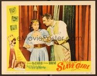 5g073 SLAVE GIRL signed LC #1 R56 by Yvonne De Carlo, who's in harem girl outfit with George Brent!