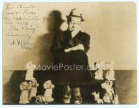 5g005 ED WYNN signed deluxe 10x13 still '33 seated portrait of The Chief with wacky dog figurines!