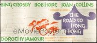 5p006 ROAD TO HONG KONG 24sh '62 wacky art of Bob Hope, Bing Crosby, Joan Collins & Dorothy Lamour