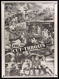 5p014 CUT-THROATS 2sh '69 six World War II GIs rob Nazis and sleep with girls!