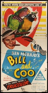 5p050 BILL & COO Aust 3sh '48 Ken Murray's trained birds, you've never seen anything like it!