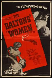 5p015 DALTONS' WOMEN 2sh '50 Tom Neal, bad girl Pamela Blake would kill for her man!