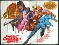 5p007 CORRUPT ONES 60x80 '67 Robert Stack, Elke Sommer, Nancy Kwan, cool artwork!