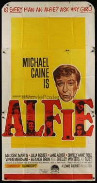 5p049 ALFIE Aust 3sh '66 British cad Michael Caine loves them and leaves them, ask any girl!