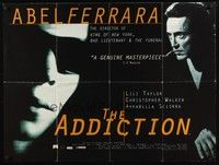 5p066 ADDICTION British quad '95 super close up of Lili Taylor & Christopher Walken, Abel Ferrara