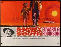 5p068 BOY TEN FEET TALL British quad '63 Edward G. Robinson, Sammy Going South, cool art!