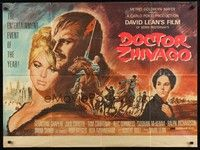5p073 DOCTOR ZHIVAGO British quad '65 Omar Sharif, Julie Christie, David Lean epic, Terpning art!