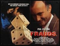 5p075 FRAUDS British quad '93 gambler Phil Collins is no ordinary insurance man, cool dice image!