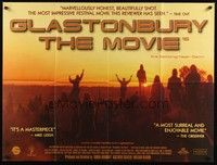 5p076 GLASTONBURY THE MOVIE British quad '95 three days of music, magic & midsummer madness!