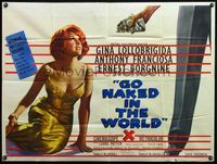 5p077 GO NAKED IN THE WORLD British quad '61 sexy Gina Lollobrigida is a woman without shame!