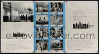 5p024 MANHATTAN int'l 1-stop poster '79 classic image of Woody Allen & Diane Keaton by bridge!
