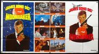 5p003 MOONRAKER 1-stop poster '79 art of Roger Moore as James Bond in outer space!