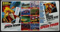 5p026 SPEED FEVER 1-stop poster '78 Mario Andretti, Fittipaldi, Formula One racing artwork!