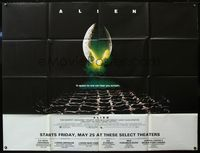 5p029 ALIEN subway poster '79 Ridley Scott sci-fi classic, cool hatching egg image!