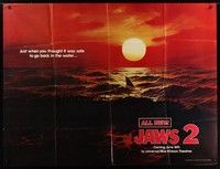 5p035 JAWS 2 subway poster '78 just when you thought it was safe to go back in the water!