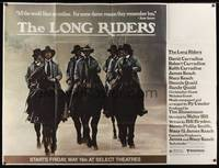 5p036 LONG RIDERS subway poster '80 Walter Hill, David Carradine, Keith Carradine, Robert Carradine
