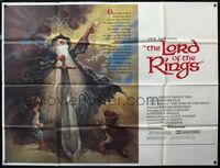5p037 LORD OF THE RINGS subway poster '78 J.R.R. Tolkien classic, Bakshi, Tom Jung fantasy art!