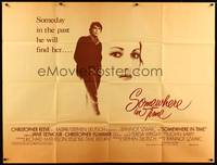 5p039 SOMEWHERE IN TIME subway poster '80 Christopher Reeve, Jane Seymour, cult classic!