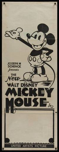6g040 NEW WALT DISNEY MICKEY MOUSE Aust daybill 32 great cartoon artwork of Mickey