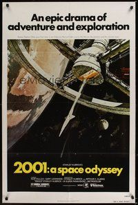 6p006 2001: A SPACE ODYSSEY 1sh R80 Stanley Kubrick, art of space wheel by Bob McCall!