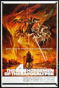 6p011 4 HORSEMEN OF THE APOCALYPSE 1sh '61 really cool artwork by Reynold Brown!