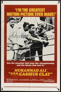 6p021 A.K.A. CASSIUS CLAY 1sh '70 image of heavyweight champion boxer Muhammad Ali in the ring!