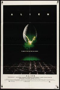 6p037 ALIEN 1sh '79 Ridley Scott outer space sci-fi monster classic, cool hatching egg image!