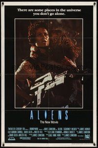 6p038 ALIENS int'l 1sh '86 James Cameron, there are some places in the universe you don't go alone!