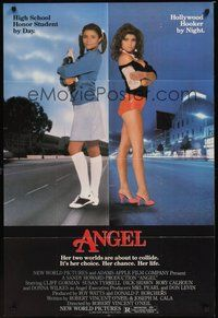 6p059 ANGEL 1sh '83 high school honor student by day, Hollywood hooker by night!