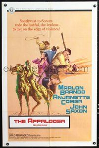 6p072 APPALOOSA 1sh '66 Marlon Brando, the lustful & lawless live on the edge of violence!