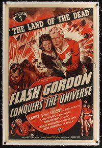 6x016 FLASH GORDON CONQUERS THE UNIVERSE linen chapter 7 1sh '40 art of Buster Crabbe, Carol Hughes