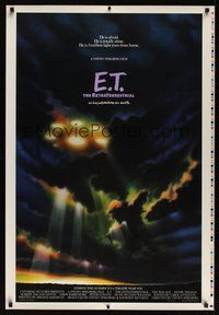6y477 E.T. THE EXTRA TERRESTRIAL printer's test advance 1sh '82 different ship in clouds image!