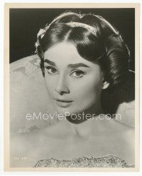 7b006 AUDREY HEPBURN 8x10 still '57 beautiful head & shoulders c/u from Love in the Afternoon!