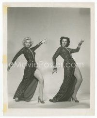 7b025 GENTLEMEN PREFER BLONDES 8x10 still '53 best image of sexy Marilyn Monroe & Jane Russell!