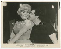 7b043 LET'S MAKE LOVE 8x10 still '60 Frankie Vaughan nuzzles sexy Marilyn Monroe's cheek!