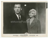 7b042 LET'S MAKE LOVE 8x10 still '60 sexy Marilyn Monroe looks at worried Yves Montand!