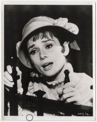 7b019 MY FAIR LADY 8x10 still '64 close up of Audrey Hepburn mouthing Marni Nixon's words!