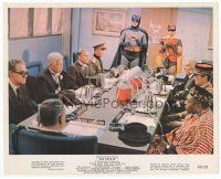7b047 BATMAN color 8x10 still '66 Adam West & Burt Ward in costume with world representatives!